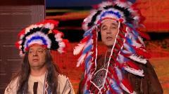 видео уральских пельменей Ковбои против индейцев. Предкулисье